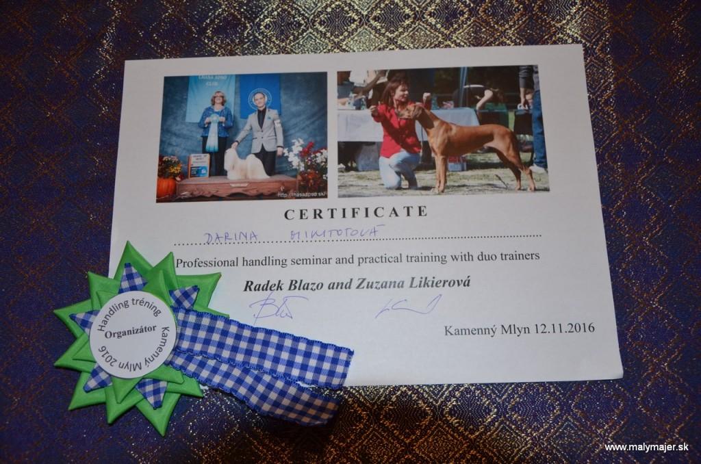 Handling trening s R. Blažo a Z. Likierová